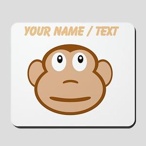Custom Monkey Face Mousepad