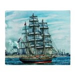 Sailing Ship Throw Blanket