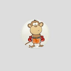 Boxing Monkey Mini Button