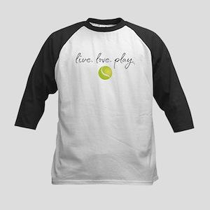 Live Love Play Tennis Kids Baseball Tee