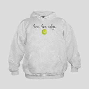 Live Love Play Tennis Kids Hoodie