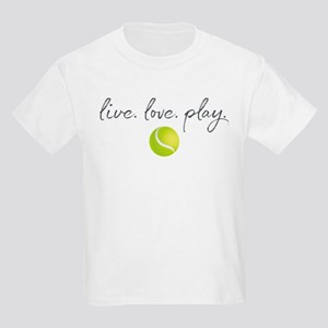Live Love Play Tennis Kids Light T-Shirt