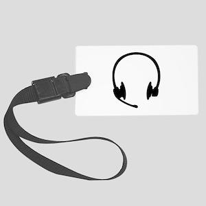 Headset headphones Large Luggage Tag