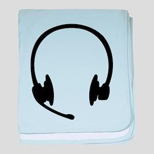 Headset headphones baby blanket