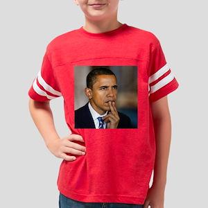 Barack-Obama-thinking 16x16 Youth Football Shirt