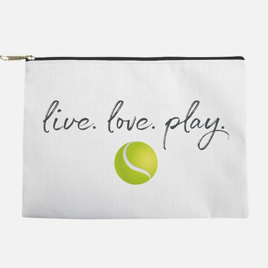 Live Love Play Tennis Makeup Pouch