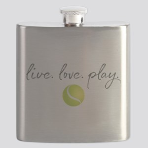 Live Love Play Tennis Flask