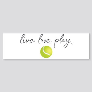 Live Love Play Tennis Sticker (Bumper)