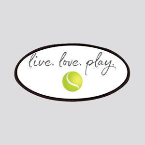 Live Love Play Tennis Patch