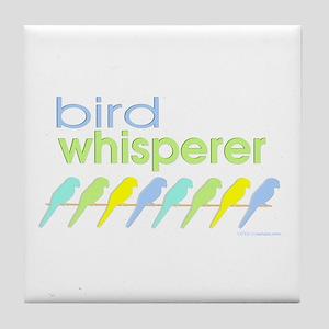 bird whisperer Tile Coaster