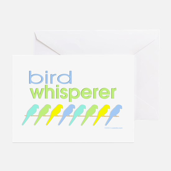 bird whisperer Greeting Cards (Pk of 10)