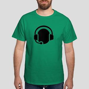 Headset call center Dark T-Shirt