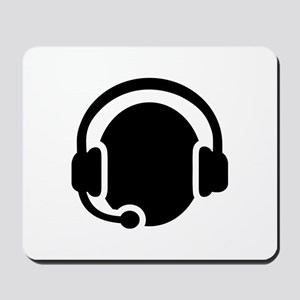 Headset call center Mousepad