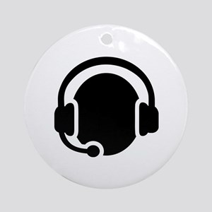 Headset call center Ornament (Round)