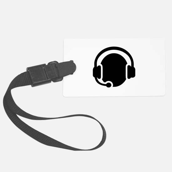 Headset call center Luggage Tag