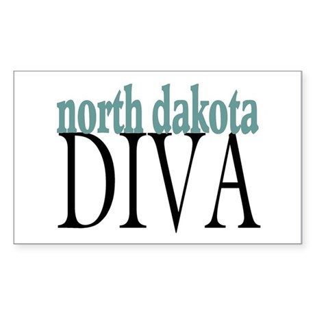 North Dakota Diva Rectangle Sticker