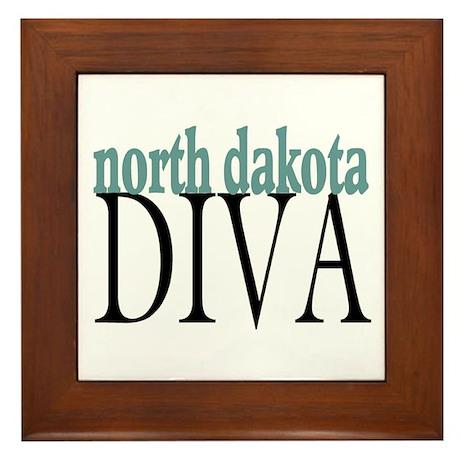 North Dakota Diva Framed Tile