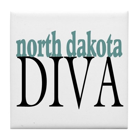 North Dakota Diva Tile Coaster