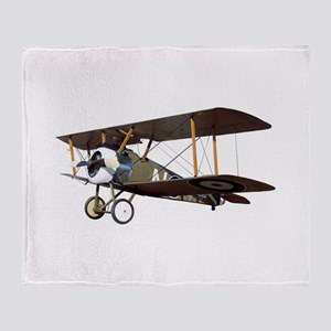 Camel Biplane Fighter Throw Blanket