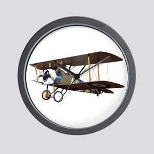 Camel Biplane Fighter Wall Clock