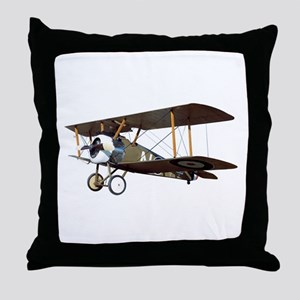 Camel Biplane Fighter Throw Pillow