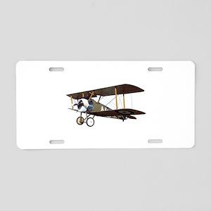 Camel Biplane Fighter Aluminum License Plate
