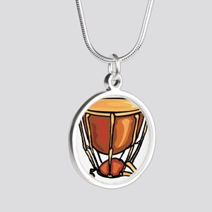 tympani drum percussion design Necklaces