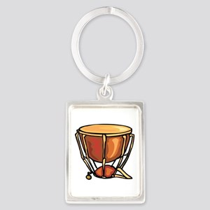 tympani drum percussion design Keychains