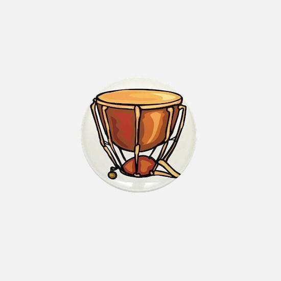 tympani drum percussion design Mini Button