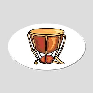 tympani drum percussion design Wall Decal