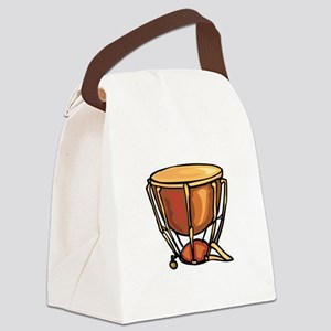 tympani drum percussion design Canvas Lunch Bag
