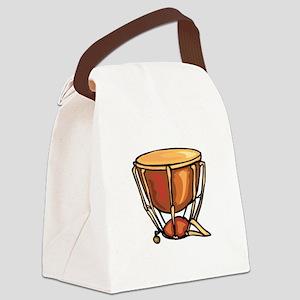 tympani drum percussion design Canvas Lunch Bag