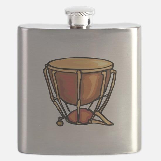 tympani drum percussion design Flask