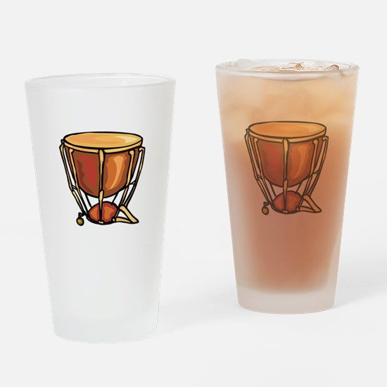 tympani drum percussion design Drinking Glass