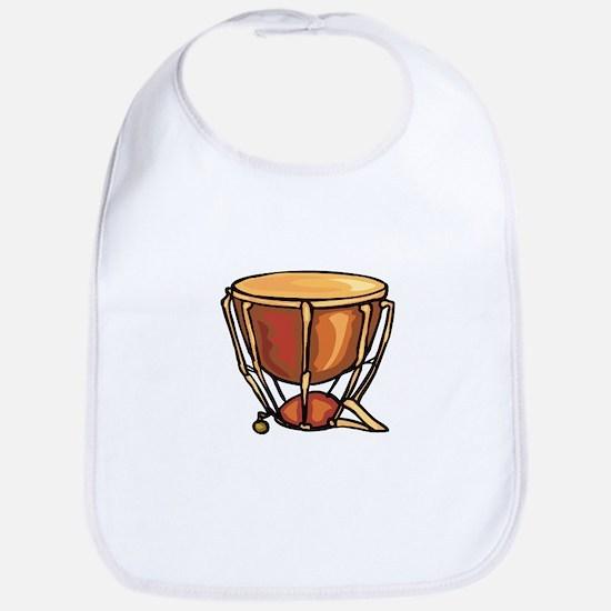 tympani drum percussion design Bib