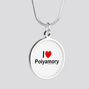 Polyamory Silver Round Necklace