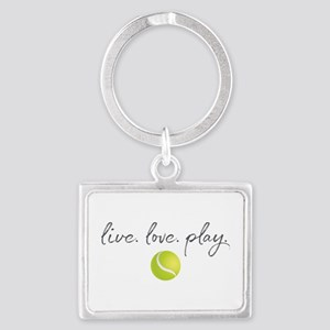 Live Love Play Tennis Landscape Keychain