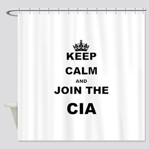 KEEP CALM AND JOIN THE CIA Shower Curtain
