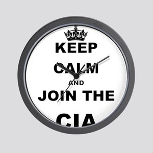 KEEP CALM AND JOIN THE CIA Wall Clock