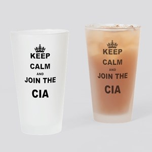 KEEP CALM AND JOIN THE CIA Drinking Glass