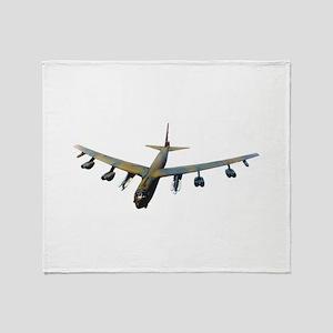 B-52 Stratofortress Bomber Throw Blanket