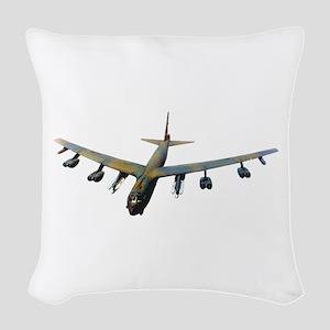 B-52 Stratofortress Bomber Woven Throw Pillow