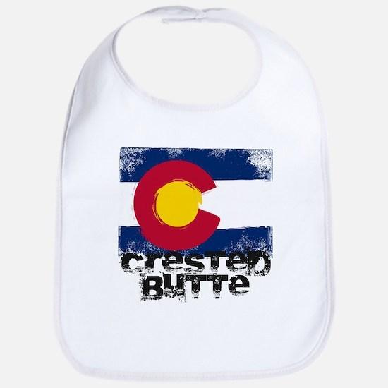 Crested Butte Grunge Flag Bib