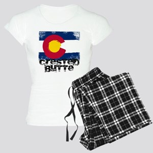 Crested Butte Grunge Flag Women's Light Pajamas