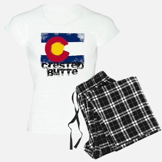 Crested Butte Grunge Flag Pajamas