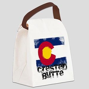 Crested Butte Grunge Flag Canvas Lunch Bag