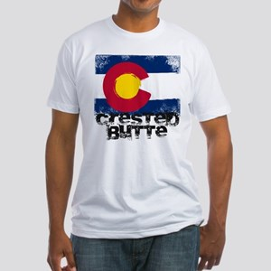 Crested Butte Grunge Flag Fitted T-Shirt