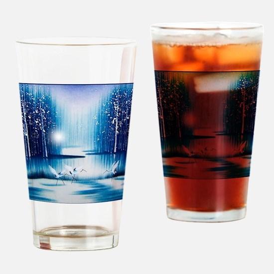 Vintage Oriental Landscape Drinking Glass