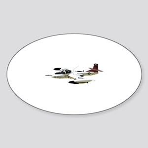 A-37 Dragonfly Aircraft Sticker (Oval)