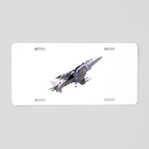 Harrier II Jump Jet Aluminum License Plate